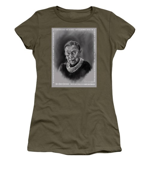 Portrait Of Ruth Bader Ginsburg Women's T-Shirt