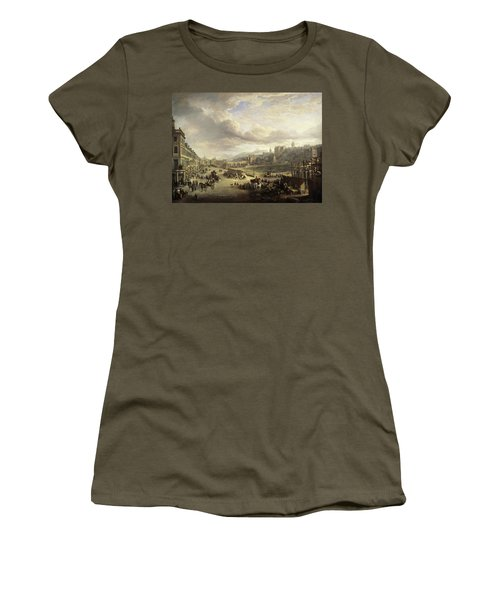 Princes Street With The Commencement Of The Building Of The Royal Institution, 1825 Women's T-Shirt