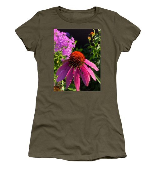 Women's T-Shirt featuring the photograph Purple Coneflower by Lukas Miller