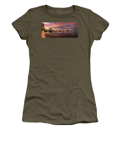 Quiet Evening On The Marina Women's T-Shirt