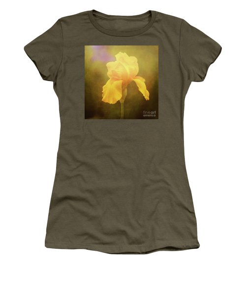 Radiant Yellow Iris With A Vintage Touch Women's T-Shirt