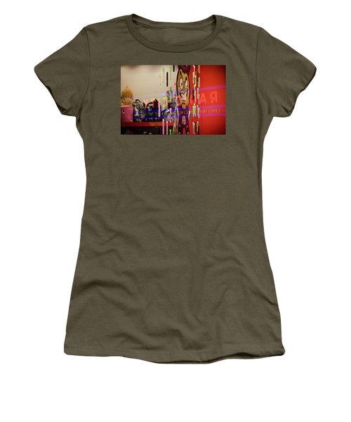 Women's T-Shirt featuring the photograph Radio City Reflection by Steve Stanger