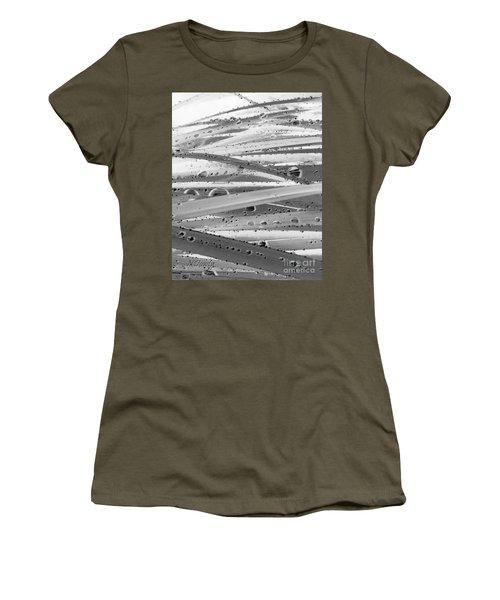 Rain On Siberian Iris Women's T-Shirt