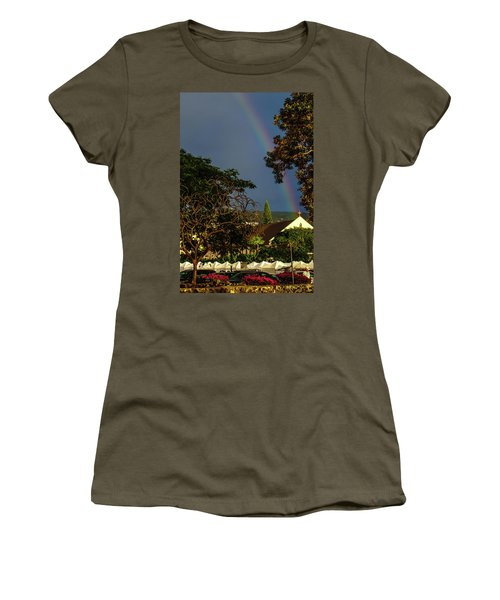 Rainbow Ended At The Church Women's T-Shirt