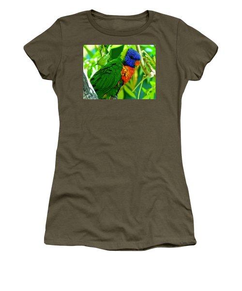 Women's T-Shirt featuring the photograph Rainbow Lorikeet by Dan Miller