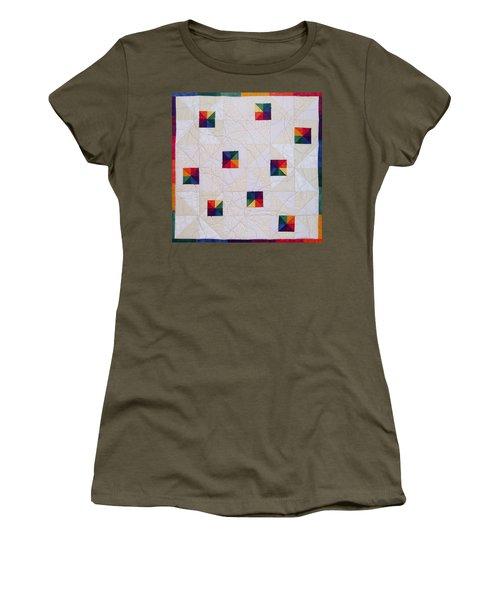 Rainbow Pinwheel Women's T-Shirt