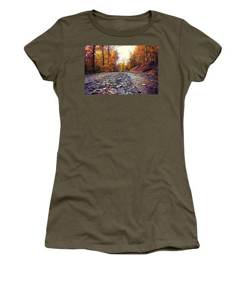 Rainy Fall Roads Women's T-Shirt