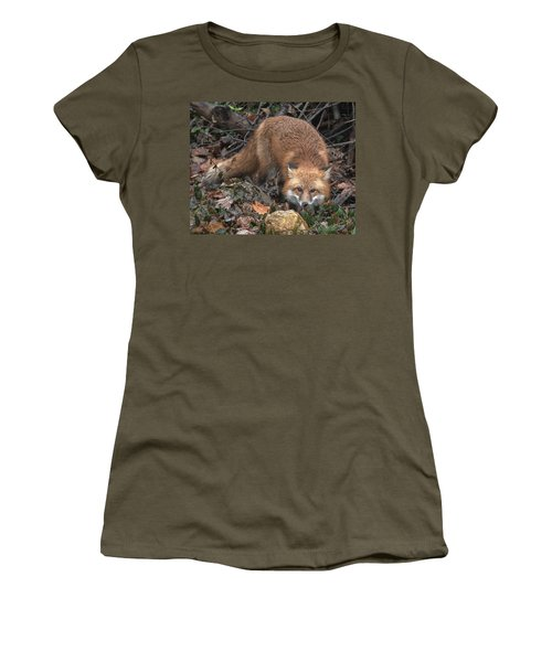 Women's T-Shirt featuring the photograph Red Fox Dmam0050 by Gerry Gantt