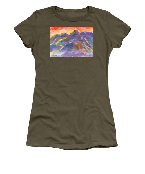 Red Sunset In The Mountains Women's T-Shirt
