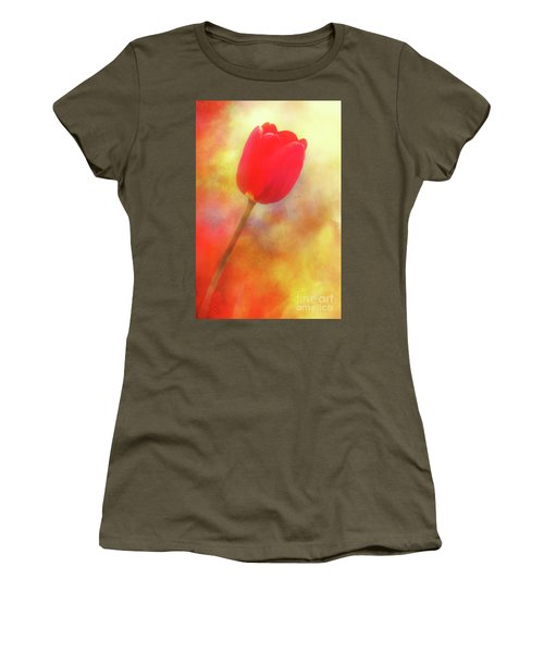 Red Tulip Reaching For The Sun Women's T-Shirt