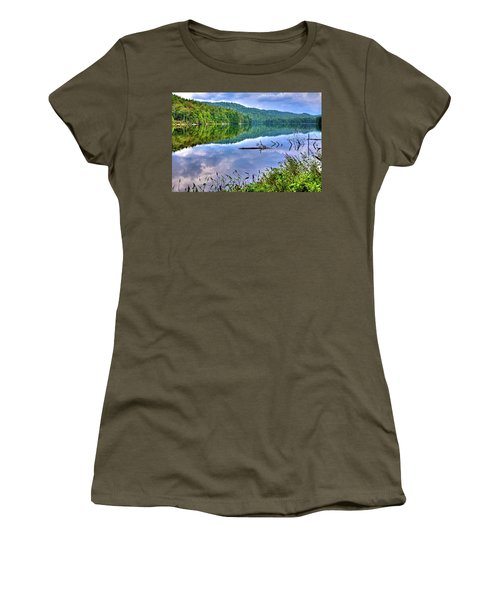 Women's T-Shirt featuring the photograph Reflections On Sis Lake by David Patterson