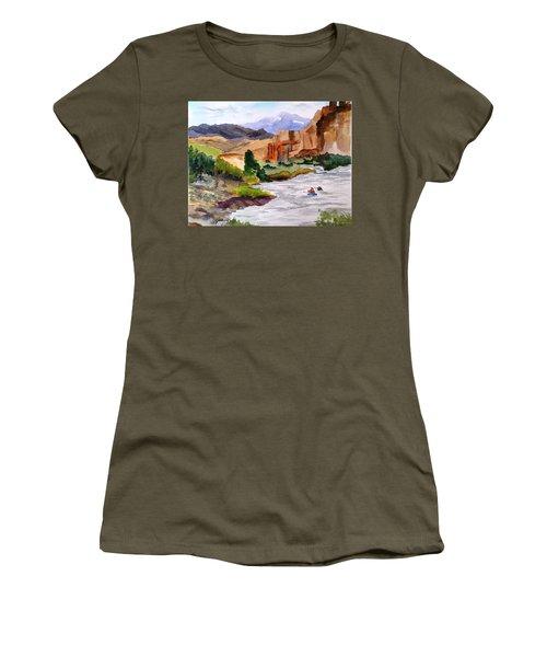 River Rafting In Montana Women's T-Shirt