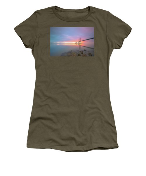 Women's T-Shirt featuring the photograph Rocky Lisbon by Bruno Rosa