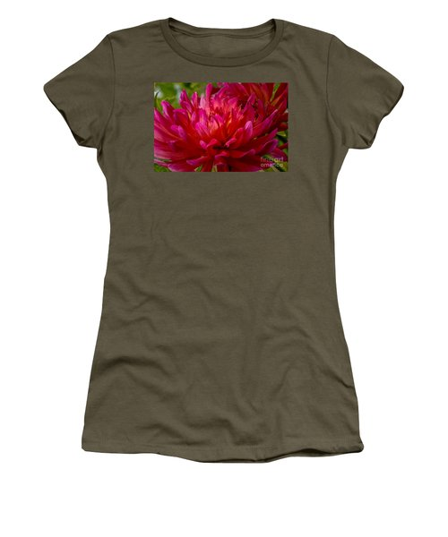 Ruby Red Dahlia Women's T-Shirt