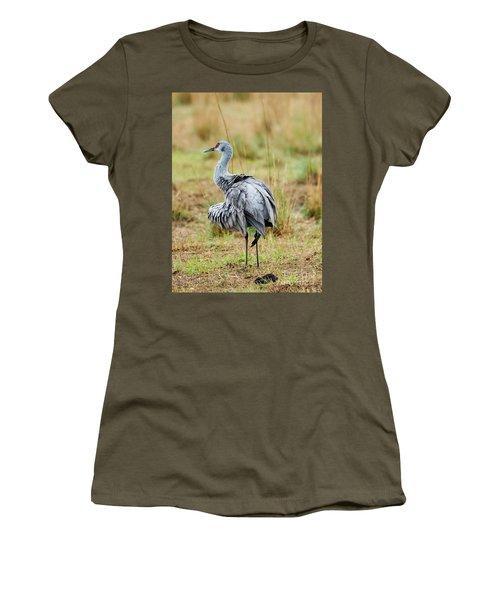 Ruffled Crane Women's T-Shirt