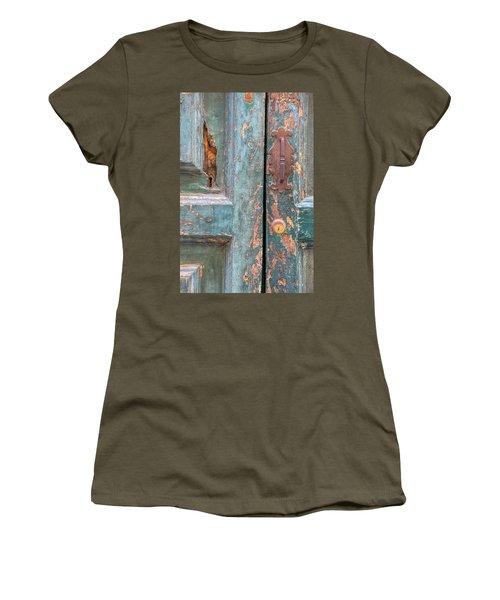Rustic Green Door Of Cortona Women's T-Shirt