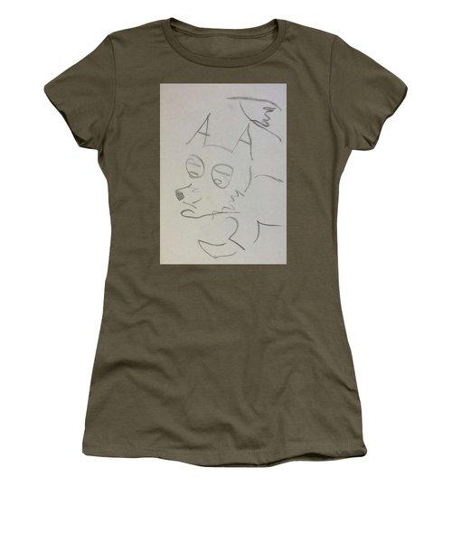 Sad Fox Sketch Women's T-Shirt