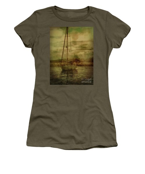 Women's T-Shirt featuring the photograph Sailing by Leigh Kemp