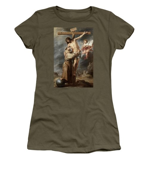 Saint Francis Embracing Christ, 1669 Women's T-Shirt