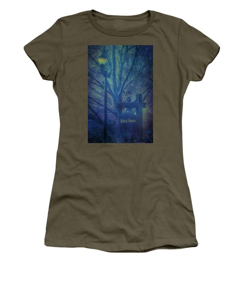Women's T-Shirt featuring the photograph Salem Massachusetts  Witch House by Jeff Folger