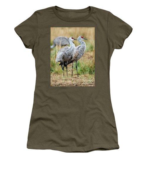 Sandhill Crane Pair Women's T-Shirt