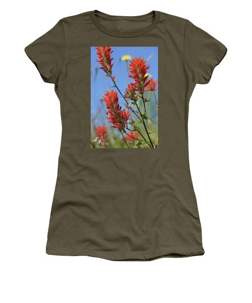 Scarlet Indian Paintbrush At Mount St. Helens National Volcanic  Women's T-Shirt