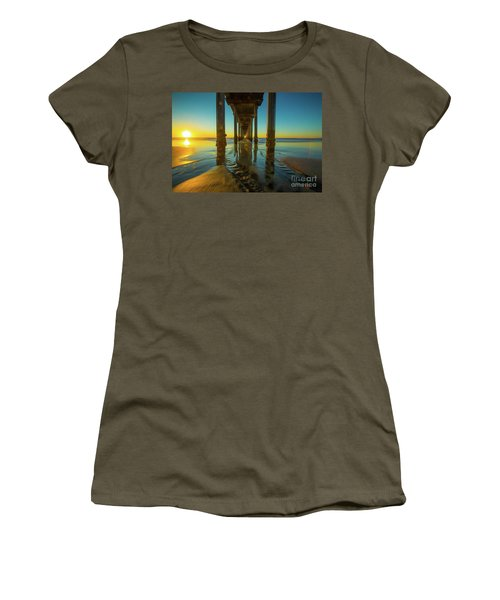 Scripps Pier San Diego Sunset 2 Women's T-Shirt