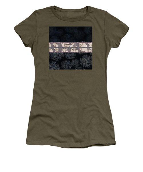 Sea Urchin Contrast Obi Print Women's T-Shirt