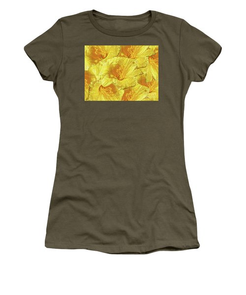 Women's T-Shirt featuring the photograph Selective Yellow Lilies by Rockin Docks