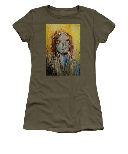 Women's T-Shirt featuring the painting Selfie by Blake Emory