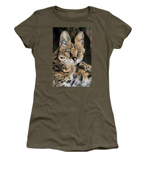 Serval Portrait Wildlife Rescue Women's T-Shirt