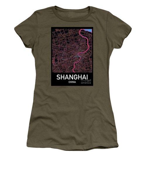 Shanghai City Map Women's T-Shirt