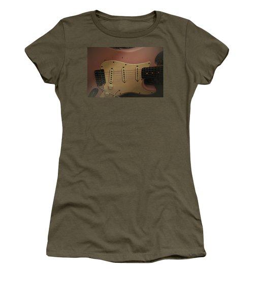 Shelly Pink Guitar Women's T-Shirt