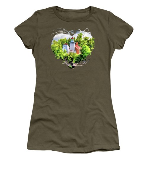Sherwood Point Lighthouse In Door County Women's T-Shirt