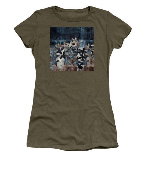 Shibori Leaves Indigo Print Women's T-Shirt