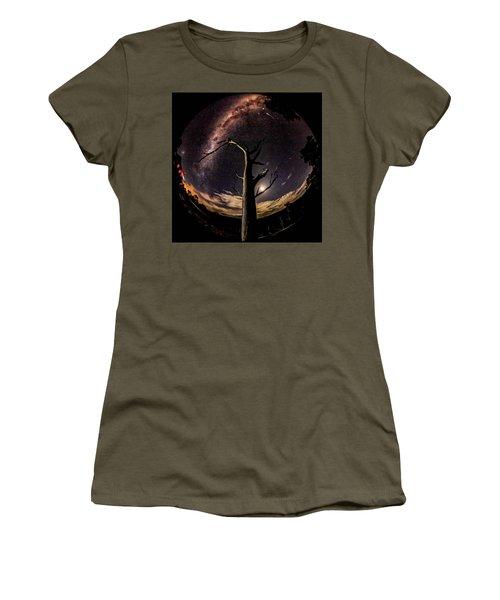 Shooting Stars And Milky Way Women's T-Shirt