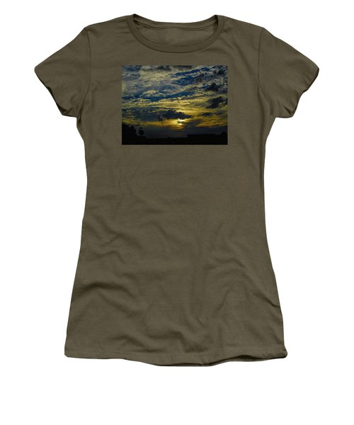 Silver, Blue And Gold Women's T-Shirt