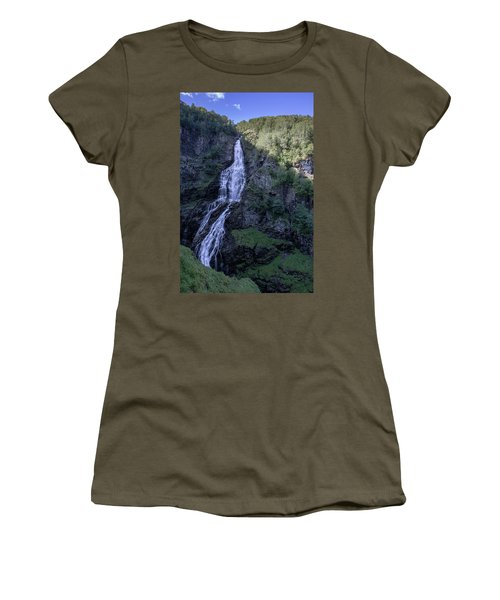 Women's T-Shirt featuring the photograph Sivlefossen, Norway by Andreas Levi