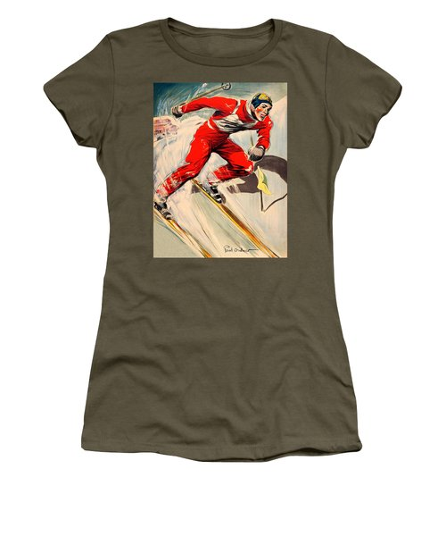 Skier On The Run Women's T-Shirt