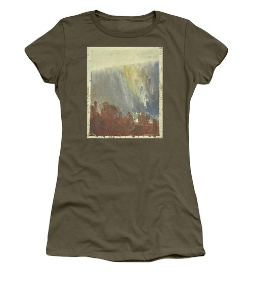 Skogklaedd Fjaellvaegg I Hoestdimma- Mountain Side In Autumn Mist, Saelen _1237, Up To 90x120 Cm Women's T-Shirt