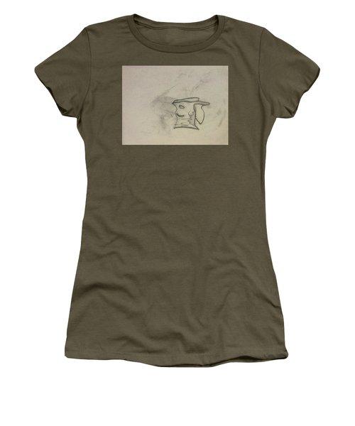 Smiling Bowl Sketch Women's T-Shirt