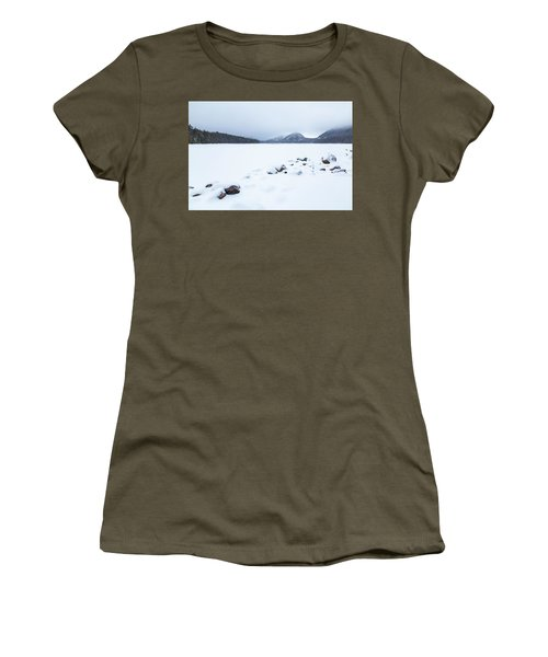 Snow Cover Jordan Pond Women's T-Shirt