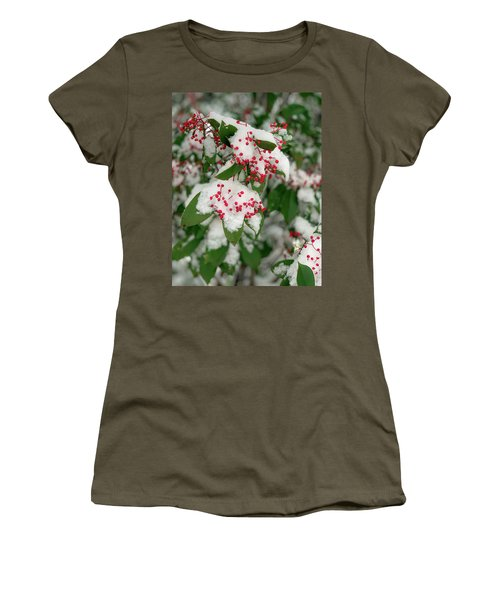 Snow Covered Winter Berries Women's T-Shirt