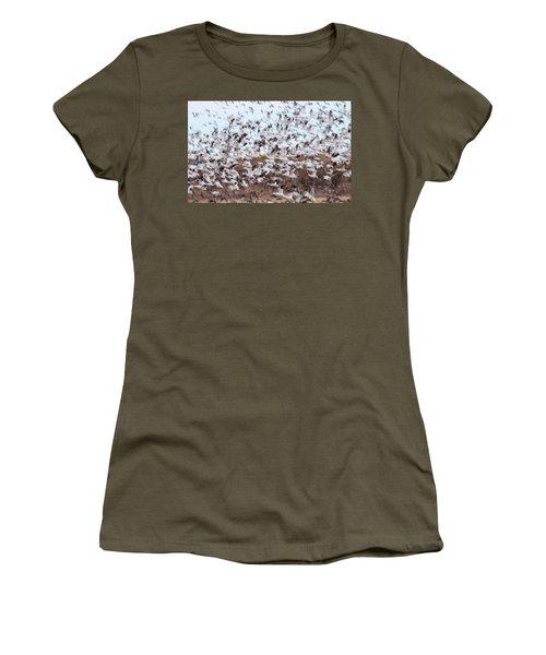 Snow Geese Chaos Women's T-Shirt