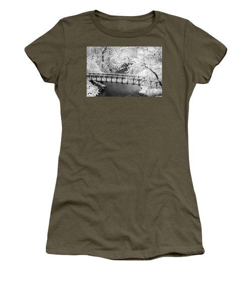Snowy Bridge On Mill Creek Women's T-Shirt