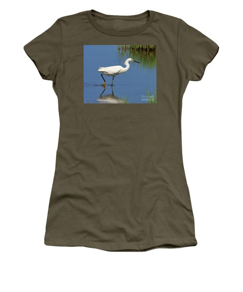Women's T-Shirt featuring the photograph Snowy Egret by Debbie Stahre
