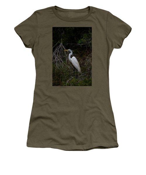 Snowy Egret On A Hot Summer Day Women's T-Shirt