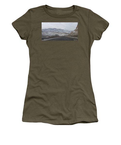 Snowy Mountain Road Women's T-Shirt