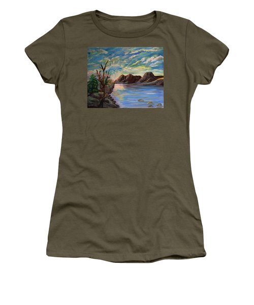 Snowy Range And Lookout Lake Women's T-Shirt