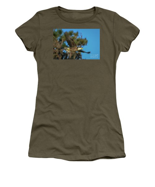 Women's T-Shirt featuring the photograph Soaring Eagle by Tom Claud